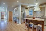 DTA Bend Vacation Rental Luxury Lodging Kitchen Counter www.bluebirddayvacationrentals.com